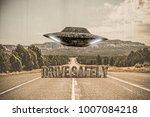 3d illustration of an ufo that... | Shutterstock . vector #1007084218