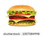 realistic hamburger classic... | Shutterstock .eps vector #1007084998