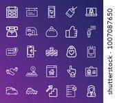 business outline vector icon... | Shutterstock .eps vector #1007087650
