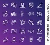 business outline vector icon... | Shutterstock .eps vector #1007087800