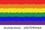 lgbt puzzles pieces background  ... | Shutterstock .eps vector #1007090464
