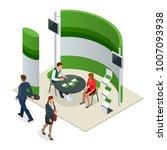 advertising exhibition stands... | Shutterstock .eps vector #1007093938