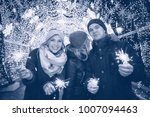 youth celebrating the new year  ... | Shutterstock . vector #1007094463