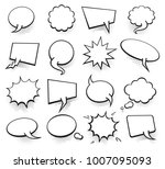 set of blank template in pop... | Shutterstock .eps vector #1007095093