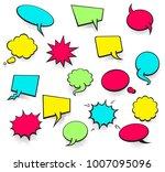 vector colored empty comic... | Shutterstock .eps vector #1007095096