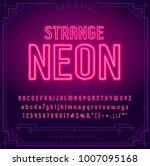 bright neon alphabet letters ... | Shutterstock .eps vector #1007095168