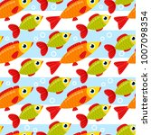seamless pattern from colorful... | Shutterstock .eps vector #1007098354