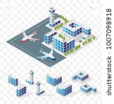 isometric high quality city... | Shutterstock .eps vector #1007098918