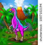 cute cartoon therizinosaur.... | Shutterstock .eps vector #1007102194