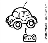 cute cartoon car toy on white... | Shutterstock .eps vector #1007104474