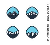vector mountain logo design ... | Shutterstock .eps vector #1007104654
