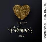 happy valentine's day vector... | Shutterstock .eps vector #1007107048