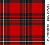 Scottish Plaid  Tartan Seamles...