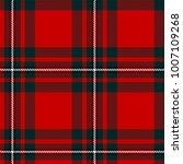 scottish plaid  tartan seamless ... | Shutterstock .eps vector #1007109268