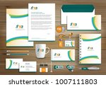 green corporate identity... | Shutterstock .eps vector #1007111803