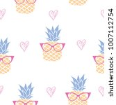 vector seamless pattern with... | Shutterstock .eps vector #1007112754
