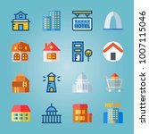 icon set about construction.... | Shutterstock .eps vector #1007115046