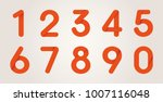 red origami numbers from zero... | Shutterstock .eps vector #1007116048