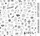 vector hand drawn doodles...   Shutterstock .eps vector #1007118310
