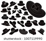 woman hats vector   Shutterstock .eps vector #1007119990