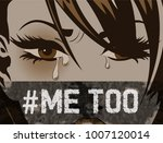 pop art woman hashtag metoo... | Shutterstock .eps vector #1007120014