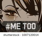 pop art woman hashtag metoo... | Shutterstock .eps vector #1007120014