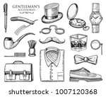 gentleman accessories. hipster... | Shutterstock .eps vector #1007120368