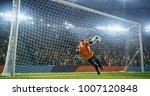 soccer goalkeeper in action on... | Shutterstock . vector #1007120848