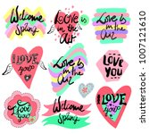 love lettering set. vector... | Shutterstock .eps vector #1007121610