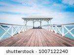 the wooden atsadang bridge ... | Shutterstock . vector #1007122240