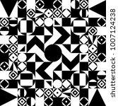 geometric black and white... | Shutterstock .eps vector #1007124238