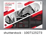 business brochure. flyer design.... | Shutterstock .eps vector #1007125273
