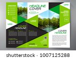 business brochure. flyer design.... | Shutterstock .eps vector #1007125288