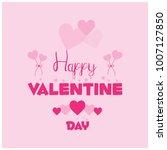 valentine's day card... | Shutterstock .eps vector #1007127850