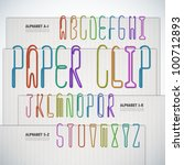 vector alphabet shaped paper... | Shutterstock .eps vector #100712893