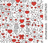 seamless pattern with love... | Shutterstock .eps vector #1007129620
