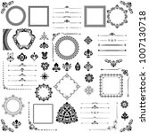 vintage set of vector... | Shutterstock .eps vector #1007130718