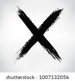x.vector cross sign. | Shutterstock .eps vector #1007132056