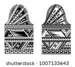 tribal tattoo with ethnic... | Shutterstock .eps vector #1007133643