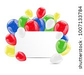 set of colorful glossy hellium... | Shutterstock .eps vector #1007133784