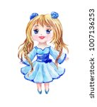 anime is a little girl in a... | Shutterstock . vector #1007136253