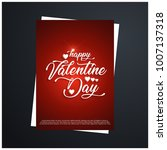 happy valentines day greetings... | Shutterstock .eps vector #1007137318
