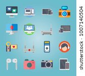 icon set about devices. with... | Shutterstock .eps vector #1007140504