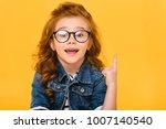 Portrait of smiling little kid...