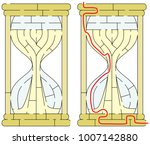 easy hourglass maze for younger ... | Shutterstock .eps vector #1007142880