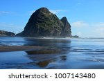 piha beach with rock formations ... | Shutterstock . vector #1007143480
