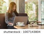 beautiful young teenage woman...   Shutterstock . vector #1007143804