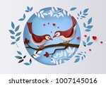 illustration of love and... | Shutterstock .eps vector #1007145016