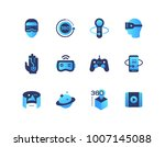 virtual reality   set of flat... | Shutterstock .eps vector #1007145088