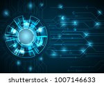 vector tech circle and...